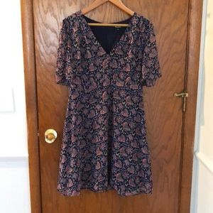 New without tags Madewell flutter sleeve dress 8